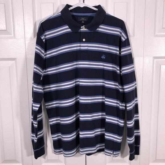 3f27e382 Brooks Brothers Shirts | Long Sleeve Striped Polo Shirt Xl | Poshmark